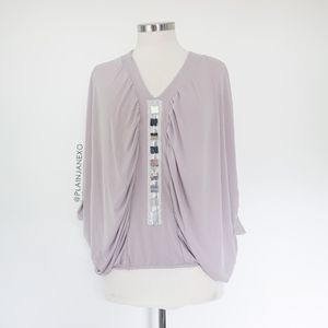 Castings Lavender Mauve butterfly sleeve blouse